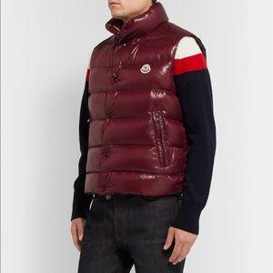 Moncler Jackets & Coats - MONCLER BURGUNDY TIB VEST (SIZE 4)